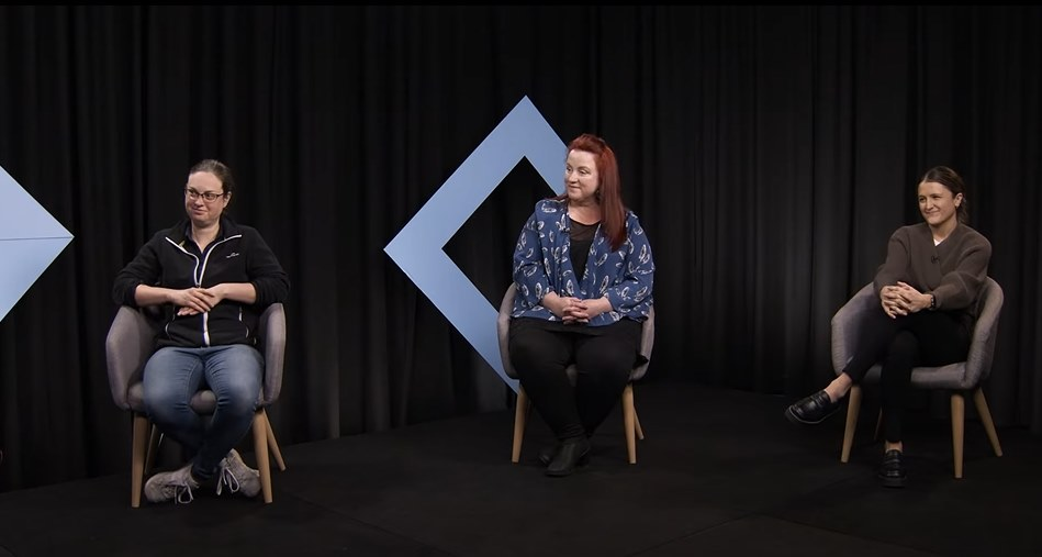 Chelsea Bryans (Workplace Diversity Officer, Tradeswomen Australia), Rhonda Alexander (General Manager, Trades at VU) and Chelsea Hart (Teacher, Electrical, Engineering & Electrotechnology).